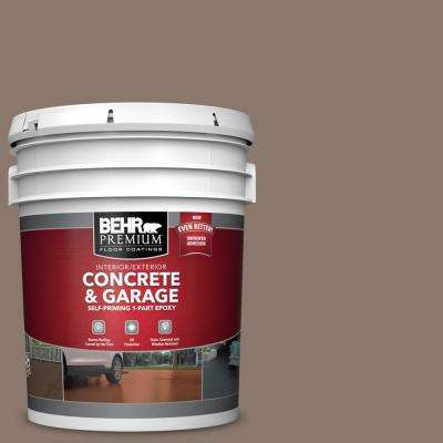 5 gal. #N210-5 Caffeine Self-Priming 1-Part Epoxy Satin Interior/Exterior Concrete and Garage Floor Paint