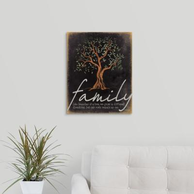 """Family - Like Branches of a Tree"" by Marla Rae Canvas Wall Art"