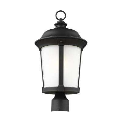 Calder 1 light outdoor black post light with led bulb