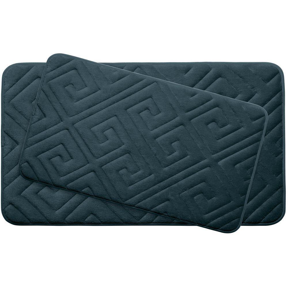 Bouncecomfort Caicos Slate Teal Memory Foam 2 Piece Bath
