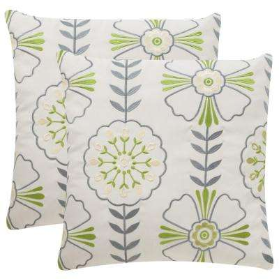 Flower Power Soleil Square Outdoor Throw Pillow (Pack of 2)