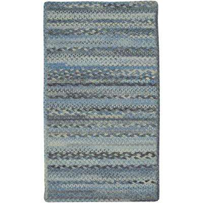 Harborview Blue 9 ft. 2 in. x 13 ft. 2 in. Cross Sewn Area Rug