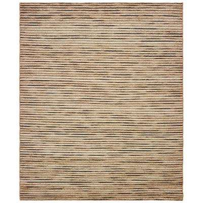 Topanga Coffee/Beige 8 ft. x 10 ft. Indoor Area Rug