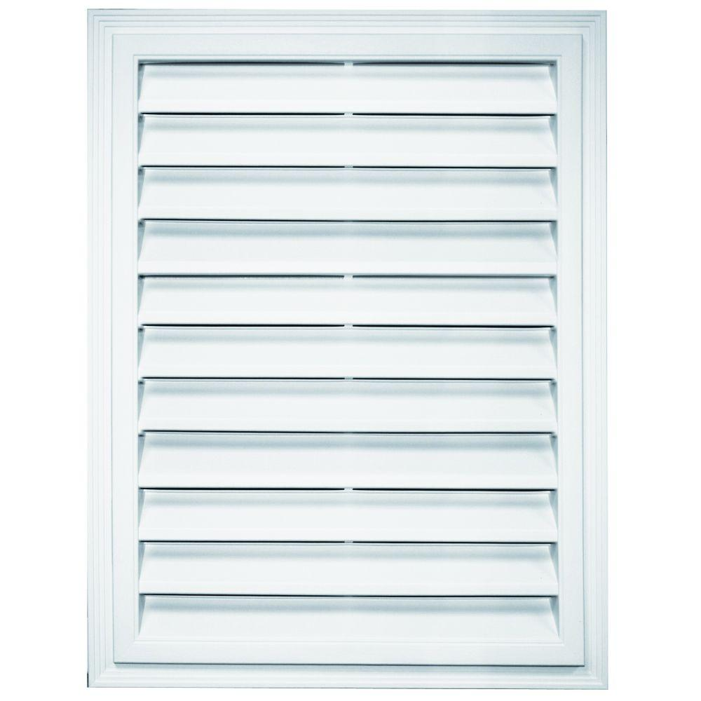 18 in. x 24 in. Rectangle Gable Vent in Bright White