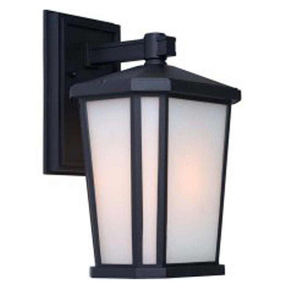 Rostovdon 1-Light Rich Black Outdoor Wall Lantern Sconce