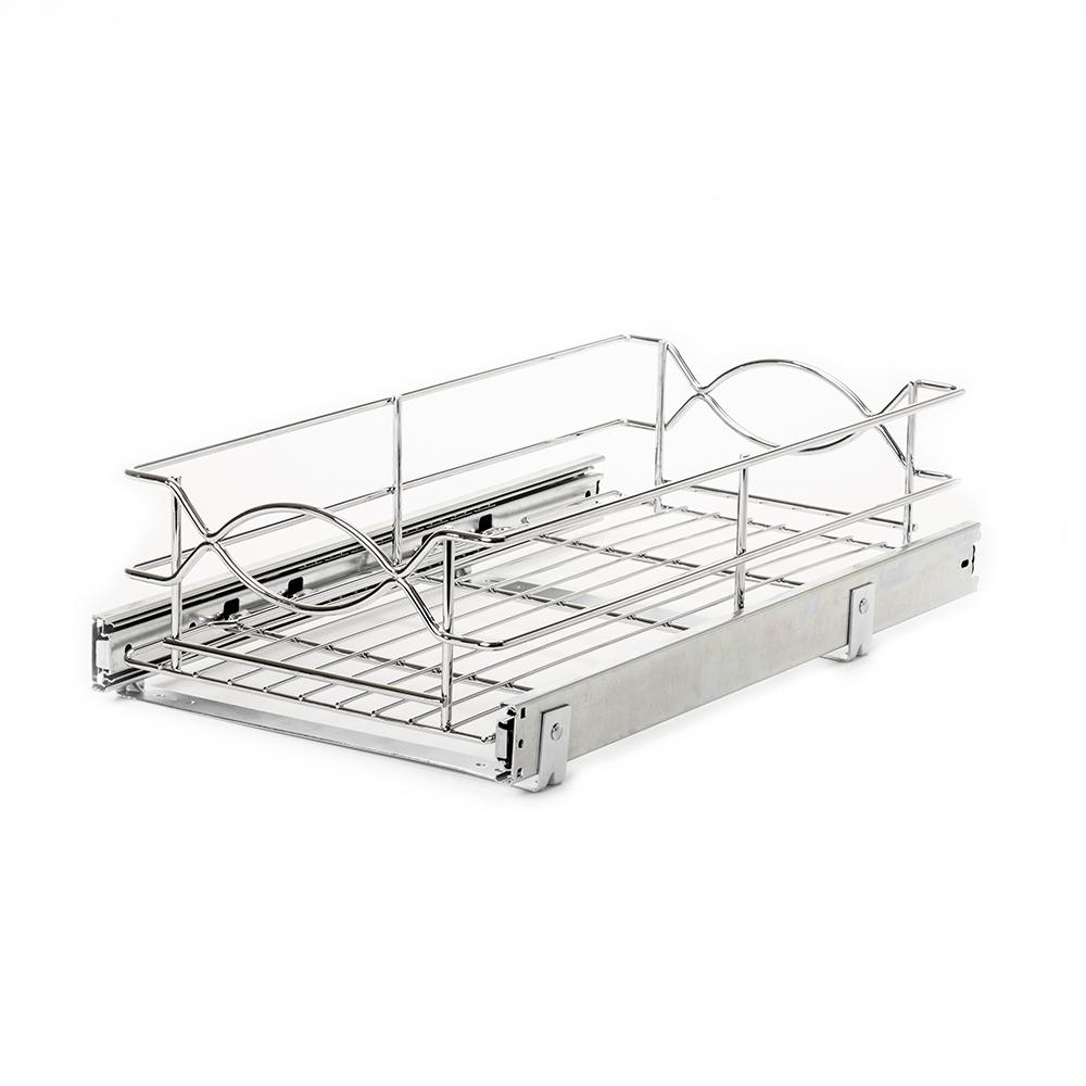 HomeDecoratorsCollection Home Decorators Collection 11 in. Wire Pull-Out Basket, Silver metallic