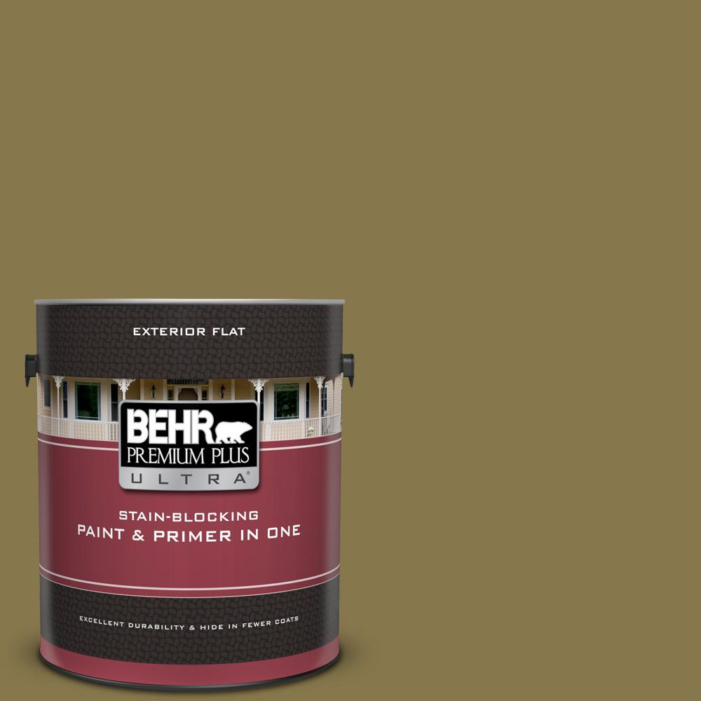 Behr Premium Plus Ultra 1 Gal M330 7 Green Tea Leaf Flat Exterior