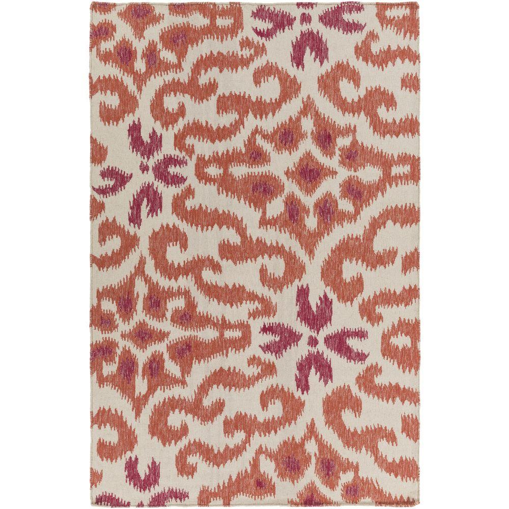 Lebidoti Rust 5 ft. x 8 ft. Indoor Area Rug