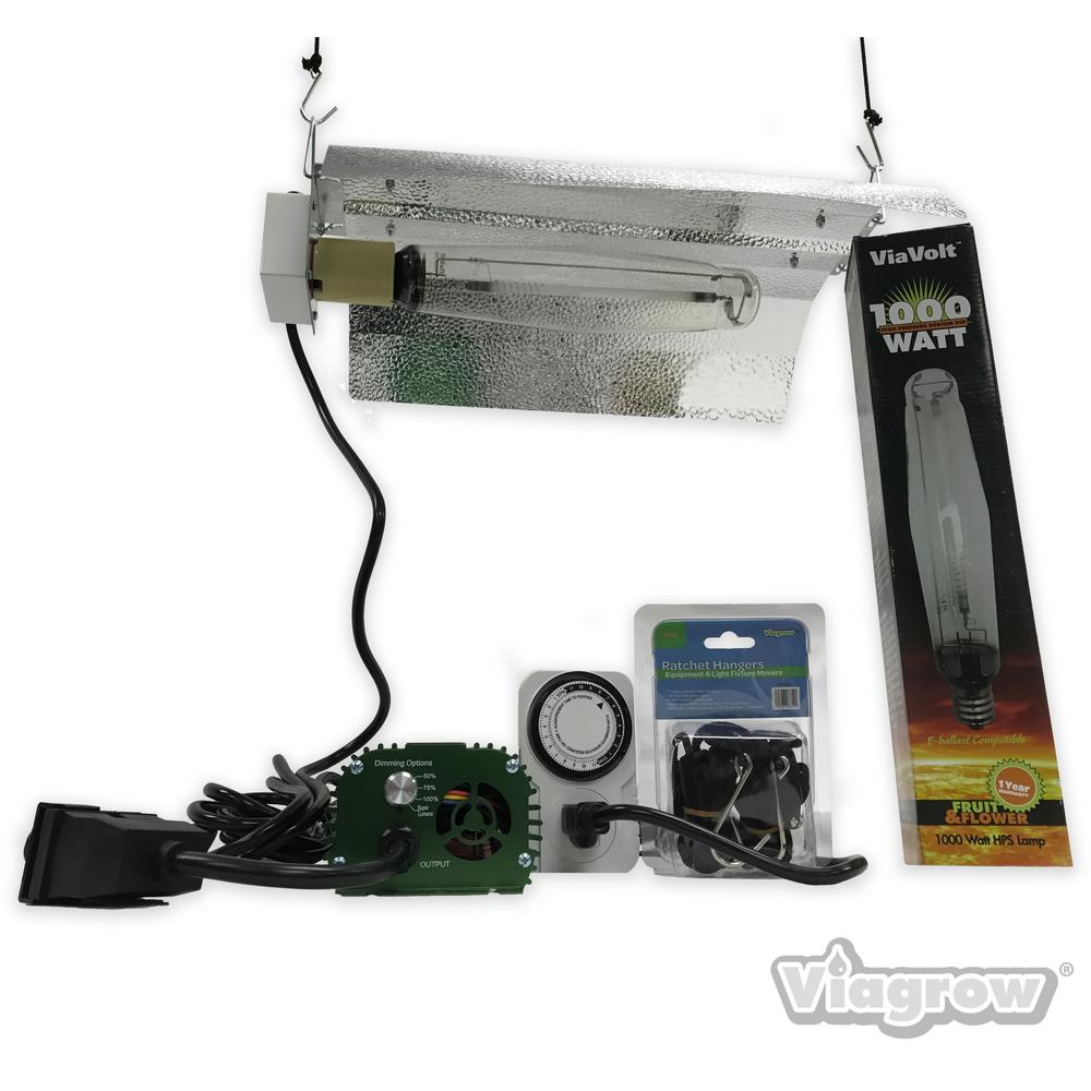 ViaVolt 1000-Watt Electronic HPS/MH 120/240 Bat Wing Grow Light System Remote Ballast
