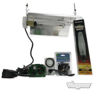 1000-Watt Electronic HPS/MH 120/240 Bat Wing Grow Light System Remote Ballast