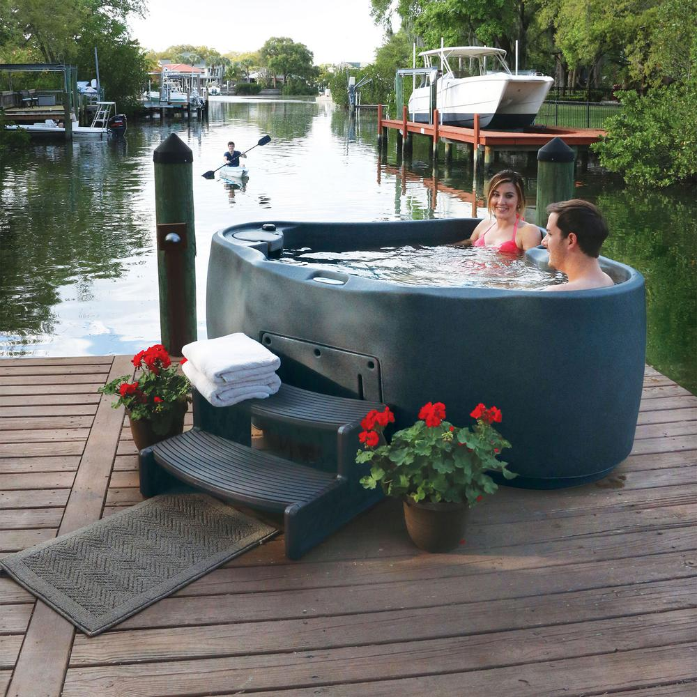 AquaRest Spas AR-300 2-Person Spa with 14 Jet in Stainless Steel ...