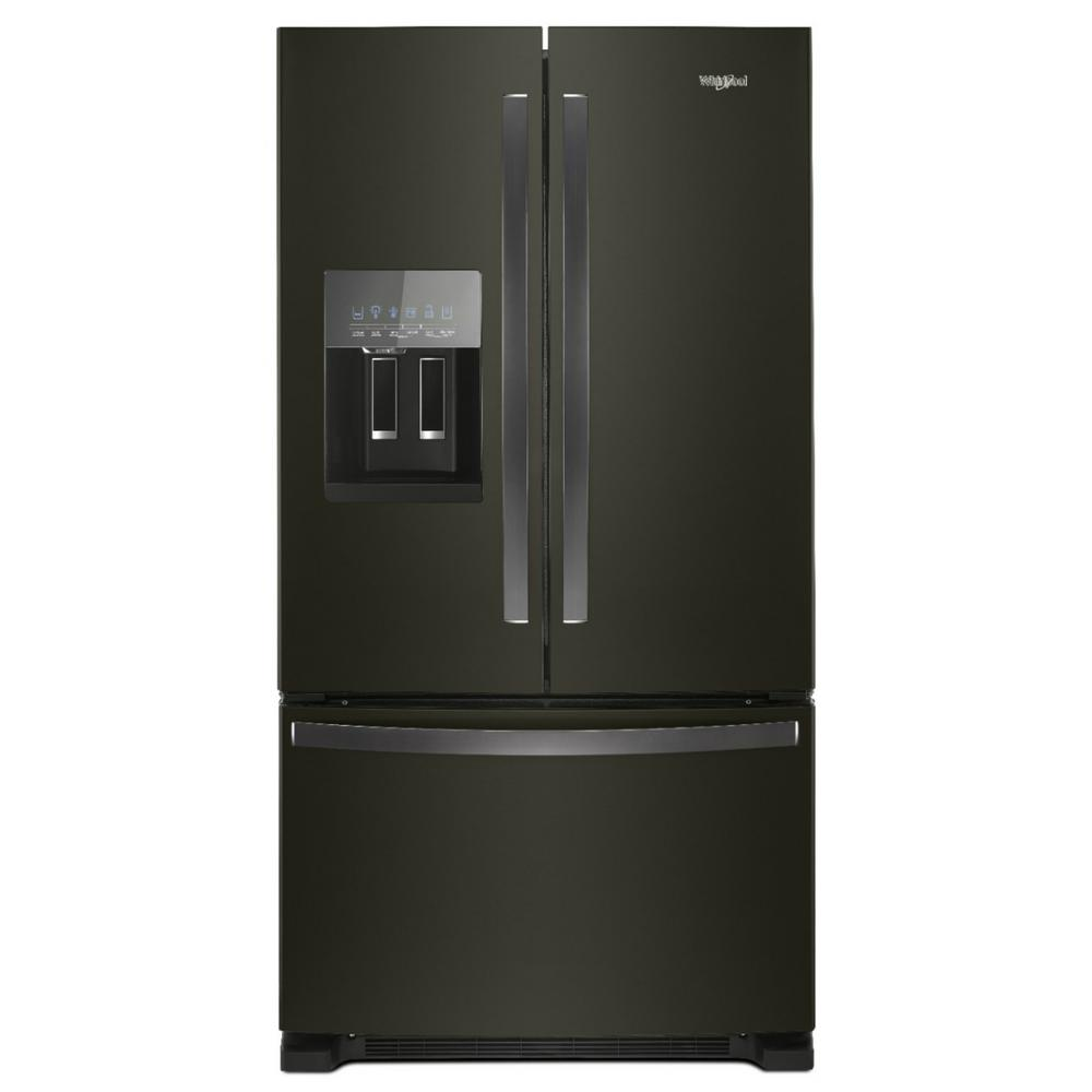 Whirlpool 25 cu. ft. French Door Refrigerator in Fingerprint Resistant Black Stainless