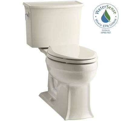 Archer Comfort Height 2-piece 1.28 GPF Single Flush Elongated Toilet with AquaPiston Flushing Technology in Almond