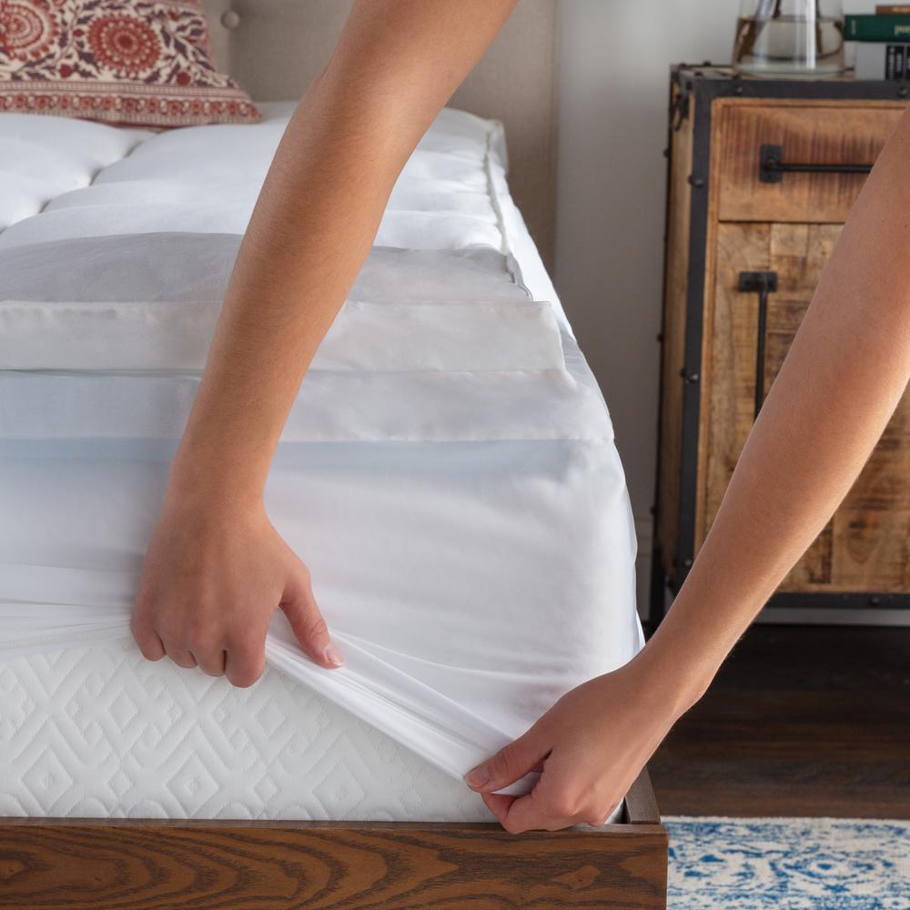 Brookside 4 in. Twin Pillow Top and Gel Memory Foam Mattress Topper