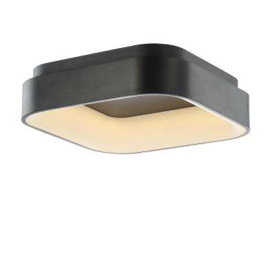Rafael 17.7 in. Black Integrated LED Metal Flush Mount Ceiling Light