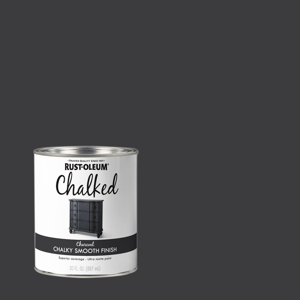 Rust-Oleum 30 oz. Charcoal Ultra Matte Interior Chalked Paint (2 Pack)