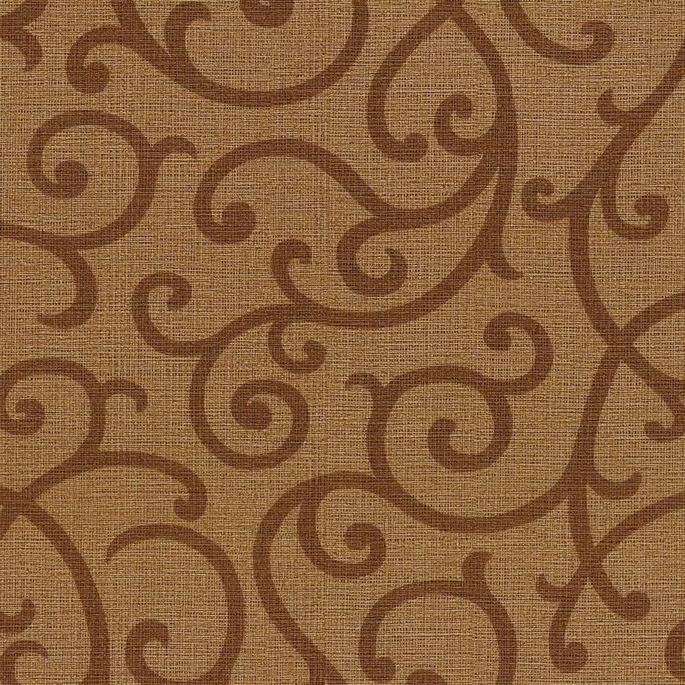 Silhouette Brown Vine Wallpaper
