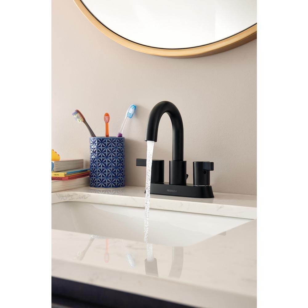 Precept 4 in. Centerset 2-Handle Bathroom Faucet in Matte Black
