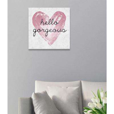 """24 in. x 24 in. """"Gorgeous Salute Rose"""" By Wynwood Studio Canvas Wall Art"""