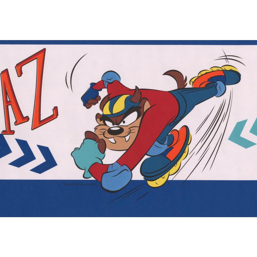 Retro Art Taz On Skateboard And Rollerblades Looney Tunes Disney