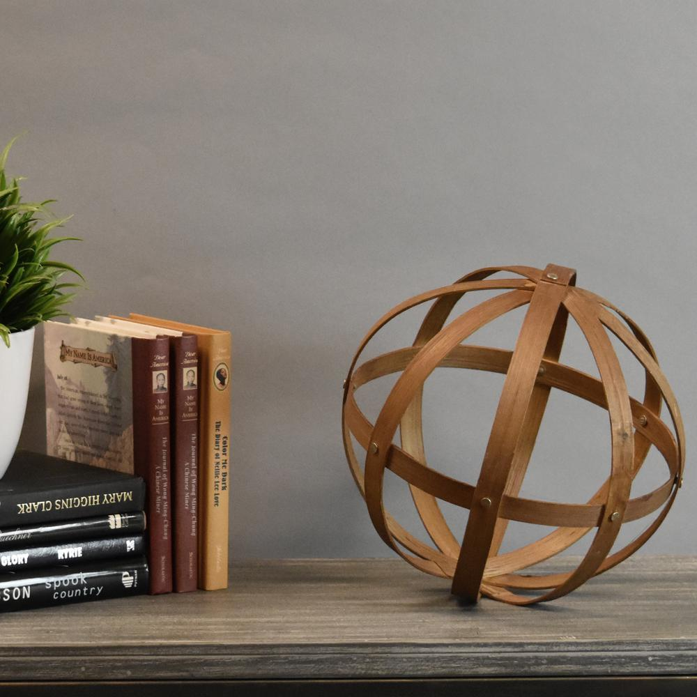 Urban Trends Collection 10 In H Round Decorative Sculpture In Brown
