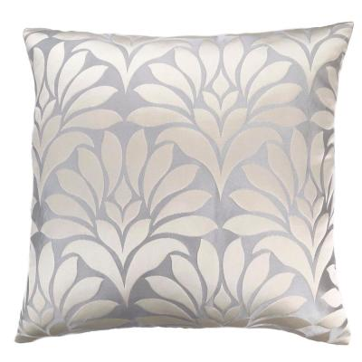 Gisela Silver Floral Down 7 in. x 20 in. Throw Pillow