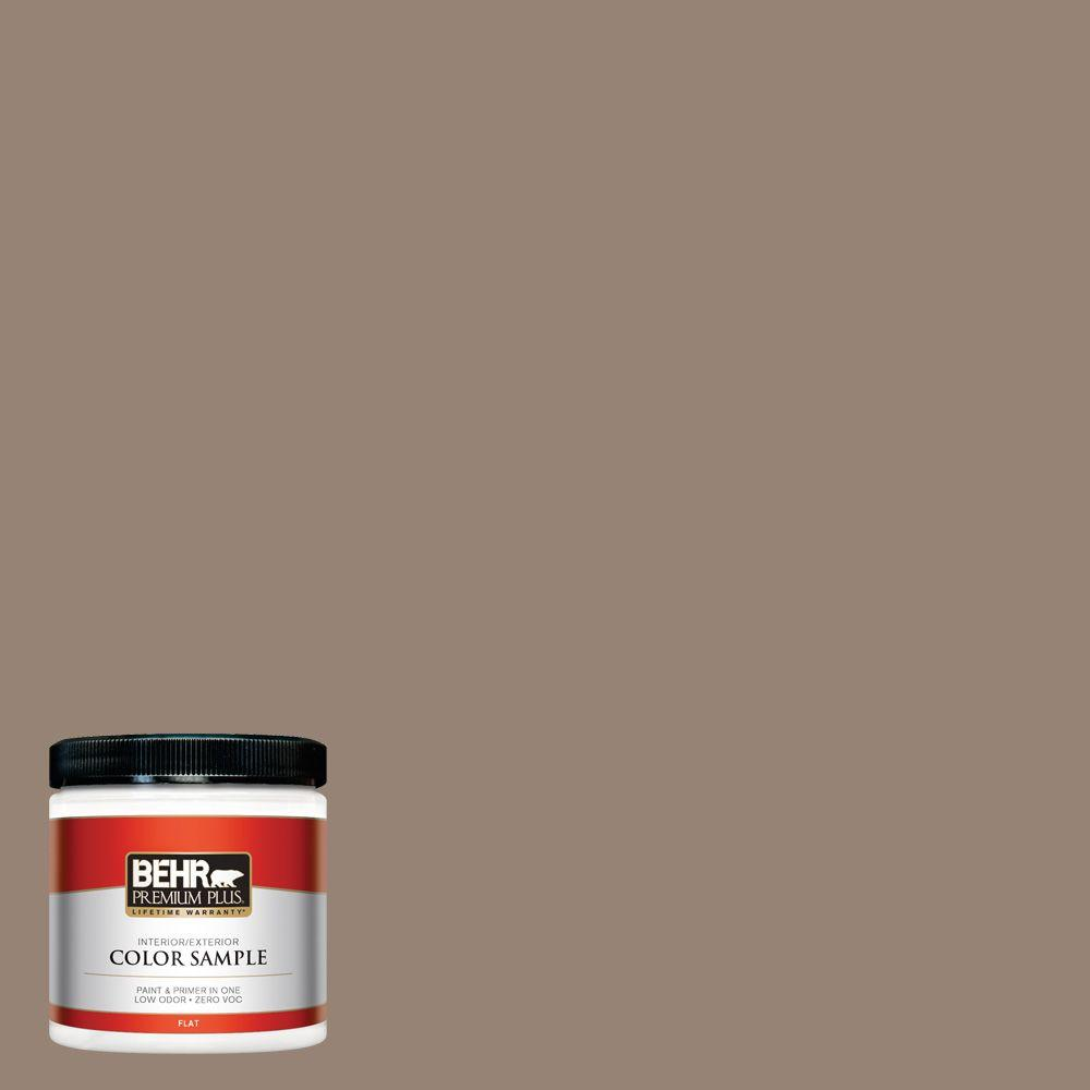 N230 5 Dry Brown Flat Interior Exterior Paint And Primer In One Sample