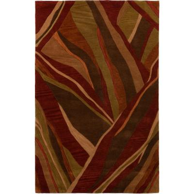 Ascot 16 Abstract Stripe Canyon 9 ft. x 13 ft. Area Rug