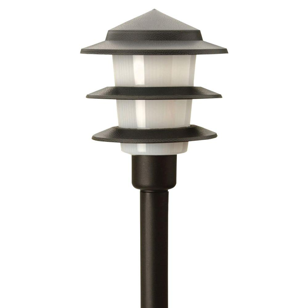 Moonrays 3-Tier Low-Voltage 1-Watt Black Outdoor