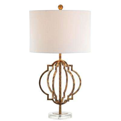 Celia 27.5 in. Antique Gold Metal LED Table Lamp