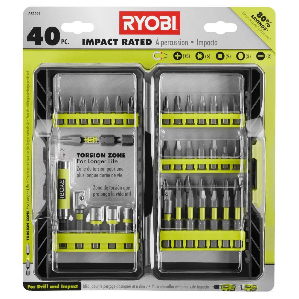 RYOBI Impact Rated Driving Kit (40-Piece)