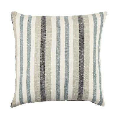 Distressed Striped Throw Pillow