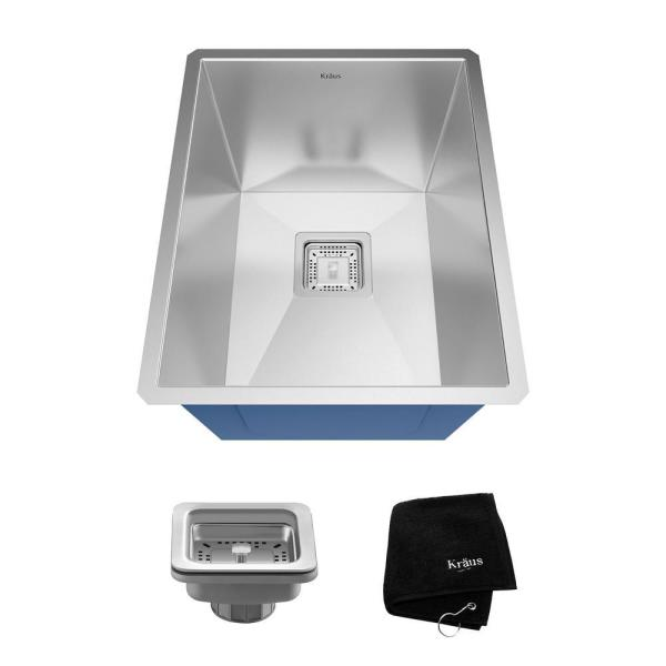 Pax Drop-In Stainless Steel 15 in. 1-Hole Single Bowl Kitchen Sink