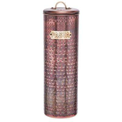 12 in. Hammered Antique Copper Pasta Canister