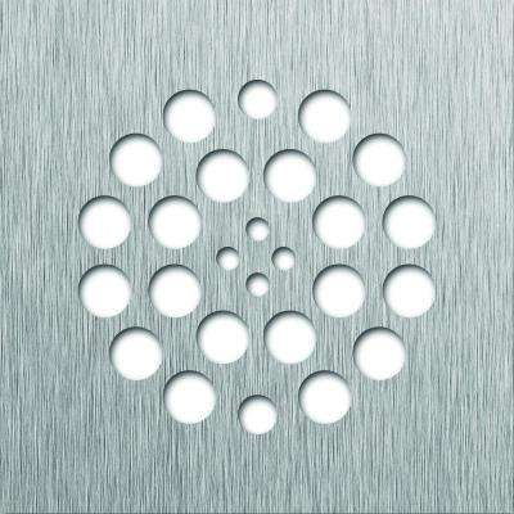 Tile Redi 4.25 in. x 4.25 in. Square Drain Plate in Brushed Nickel