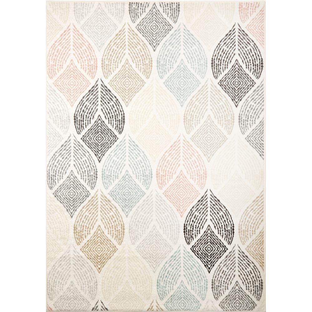 New Weave Samira Ivory/Multi 7 ft. 10 in. x 10 ft. 2 in. Indoor Area Rug