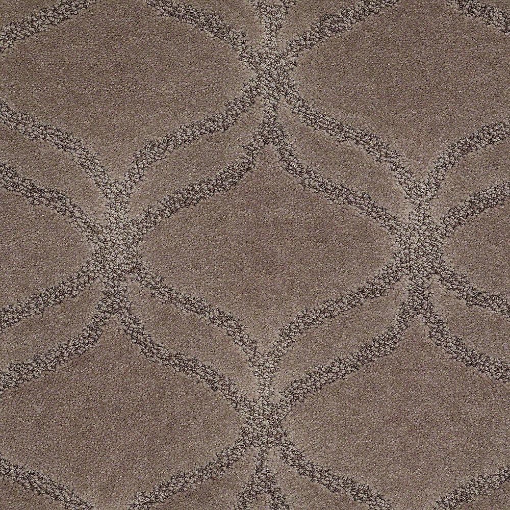 Carpet Sample - Kensington - In Color Deer Tracks 8 in. x 8 in.