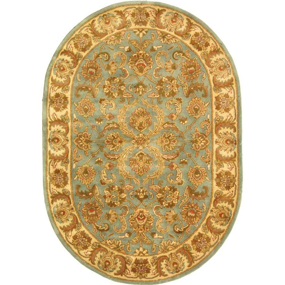 Safavieh Heritage Blue/Beige 5 Ft. X 7 Ft. Oval Area Rug