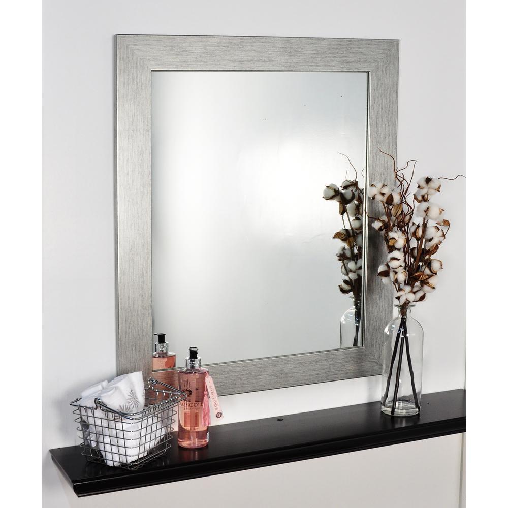Silver Grain Framed Mirror