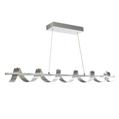 6-Light Brushed Aluminum Billiard Light
