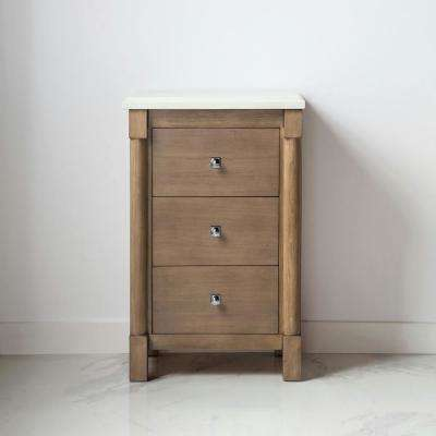 Breton 22 in W x 21 in. D x 34.50 in. H Freestanding Small side unit in Almond Toffee