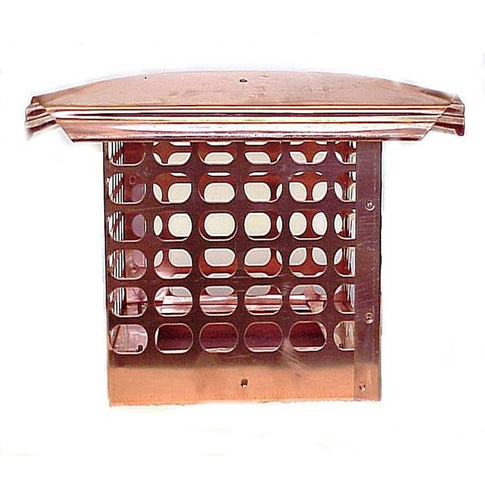 The Forever Cap 8 in. x 17 in. Adjustable Copper Chimney Cap