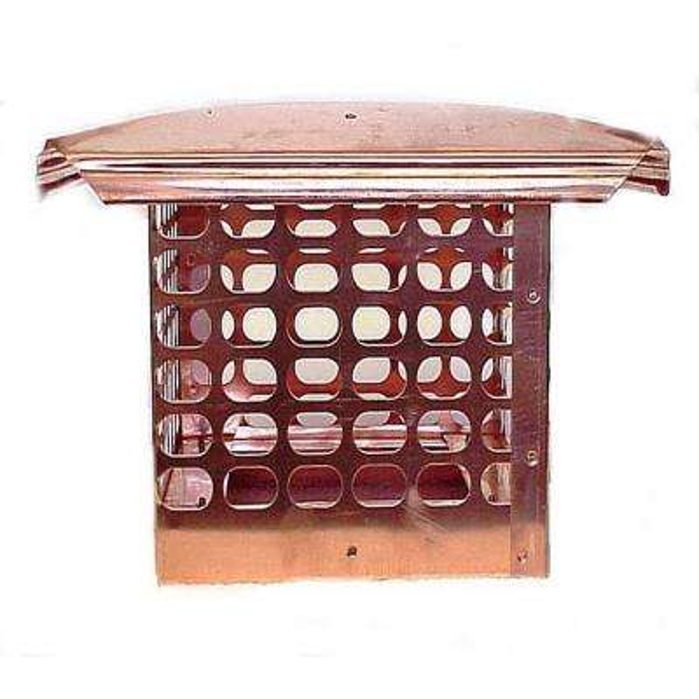 8 in. x 17 in. Adjustable Copper Chimney Cap