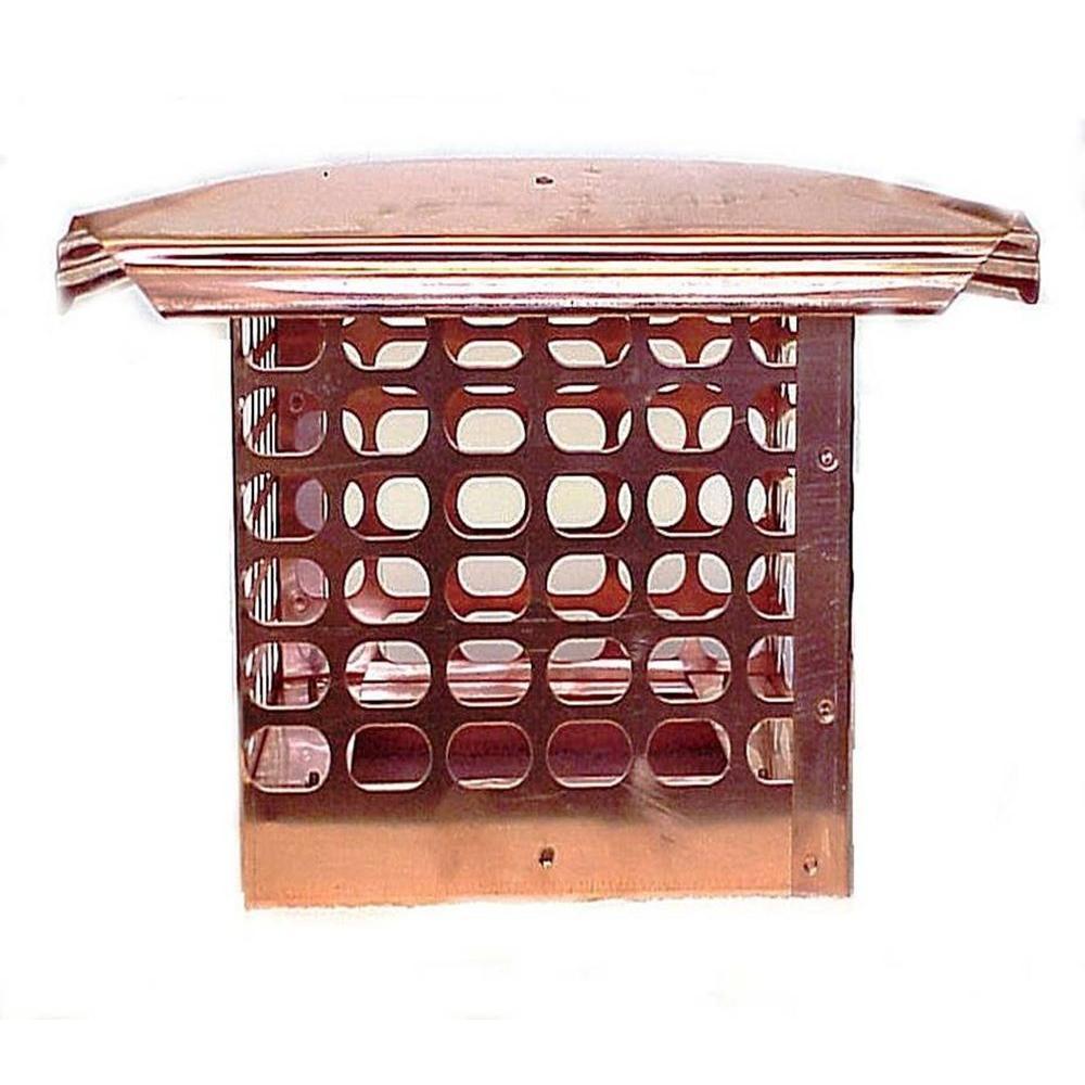 8 in. x 8 in. Adjustable Copper Chimney Cap