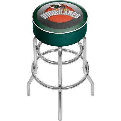 University of Miami Honeycomb 31 in. Chrome Padded Bar Stool