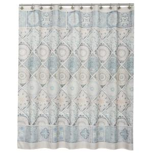 Saturday Knight Modena 72 inch Light Blue Polyester Shower Curtain by Saturday Knight