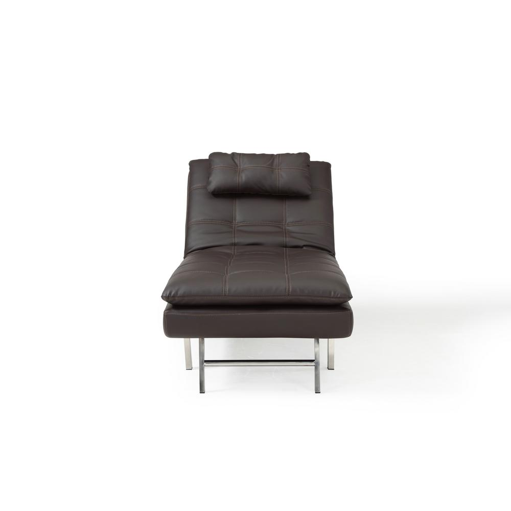 Relax A Lounger Arnold Faux Leather Convertible Chaise Lounge With