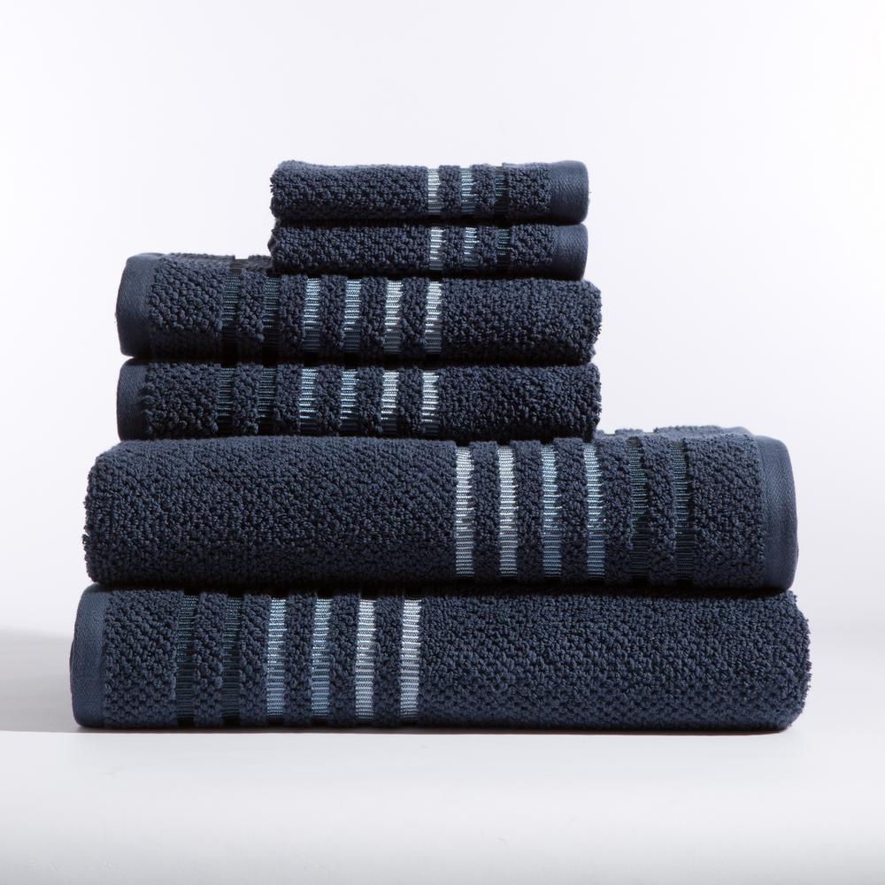 Maggie 6-Piece Bath Towel in Midnight