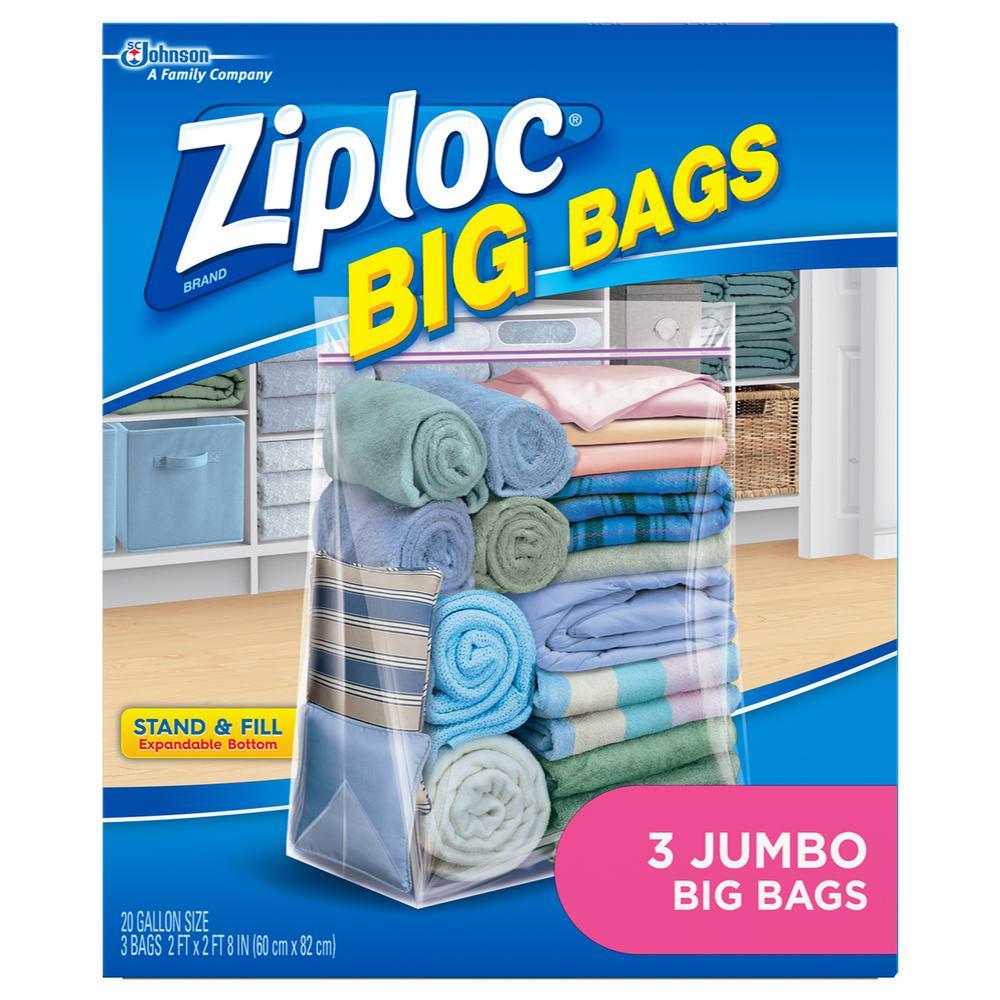 Ziploc 20 gal. Jumbo Plastic Storage Bag  sc 1 st  Home Depot & Ziploc 20 gal. Jumbo Plastic Storage Bag-696508 - The Home Depot