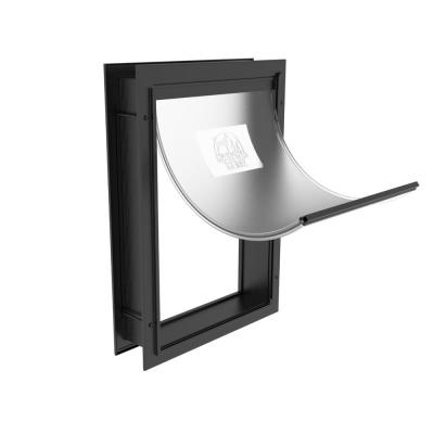Medium Deluxe Aluminum Pet Door for Dogs, Adjustable Tunnel for Walls and Screens up to 2.8 in.